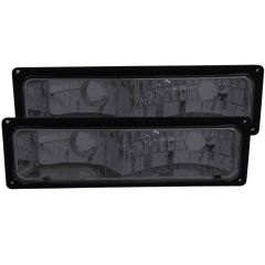 CHEVY/GMC C/K1500/2500 88-98 / C/K3500 88-00 / SUBURBAN 92-99 / BLAZER (full-size) 92-94 / TAHOE 95-99 / YUKON 92-99 EURO PARKING/SIGNAL LIGHTS SMOKE LENS BLACK FRAME