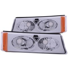 CHEVY SILVERADO / AVALANCHE 03-06 EURO PARKING/SIGNAL LIGHTS CHROME AMBER