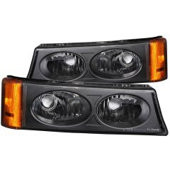 CHEVY SILVERADO / AVALANCHE 03-06 EURO PARKING/SIGNAL LIGHTS BLACK AMBER