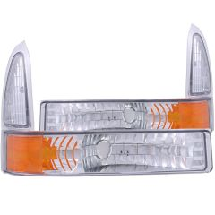 FORD EXCURSION 00-04 / SUPERDUTY 99-04 EURO PARKING/SIGNAL LIGHTS CHROME AMBER