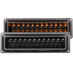 CHEVY/GMC C/K1500/2500 88-98 / C/K3500 88-00 / SUBURBAN 92-99 / BLAZER (full-size) 92-94 / TAHOE 95-99 / YUKON 92-99 L.E.D PARKING/SIGNAL LIGHTS CLEAR BLACK
