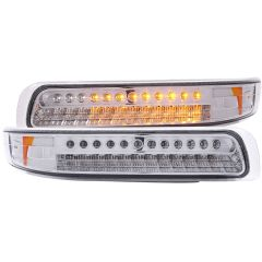 CHEVY SILVERADO 1500/2500 99-02 / 3500 01-02 / SUBURBAN/TAHOE 00-06 L.E.D PARKING/SIGNAL LIGHTS CHROME AMBER