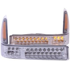 FORD EXCURSION 00-04 / SUPERDUTY 99-04 L.E.D FRONT PARKING/SIGNAL CHROME AMBER