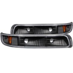 CHEVY SILVERADO 1500/2500 99-02 / 3500 01-02 / SUBURBAN/TAHOE 00-06 PARKING/SIGNAL LIGHTS EURO BLACK AMBER