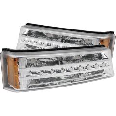 CHEVY SILVERADO / AVALANCHE 03-06 L.E.D PARKING/SIGNAL LIGHTS CHROME G2 AMBER