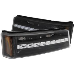 CHEVY SILVERADO / AVALANCHE 03-06 L.E.D PARKING/SIGNAL LIGHTS BLACK G2 AMBER