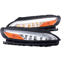 JEEP CHEROKEE 14-18 L.E.D PARKING/SIGNAL LIGHTS ALL CHROME AMBER