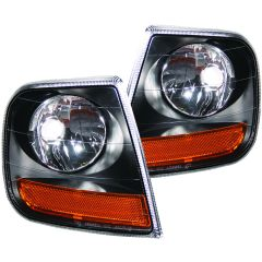 FORD F-150 97-03 / EXPEDITION 97-02 CORNER LIGHT EURO BLACK (HARLEY-DAVIDSON® STYLE)