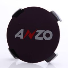"""7"""" HID BLACK PROTECTIVE LENS COVER w/ ANZO LOGO (Pair)"""