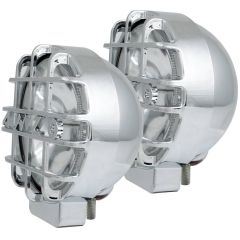 "6"" HID OFF ROAD LIGHTS CHROME w/ LENS PROTECTOR (PAIR)"