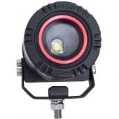 Adjustable Round LED Light w/ Wire Harness