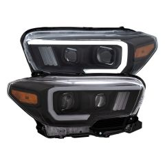 TOYOTA TACOMA '16-19 PROJECTOR PLANK STYLE SWITCHBACK H.L BLACK AMBER (W/ LED DRL)