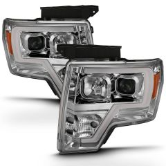 Ford F150 09-14 PROJECTOR LIGHT BAR H.L. CHROME AMBER PAIR