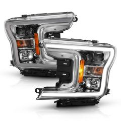 FORD F-150 18-19 PROJECTOR PLANK STYLE H.L. CHROME AMBER (WITHOUT SWITCHBACK)