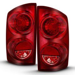DODGE RAM 1500 06-08 RAM 2500/3500 07-09 TAIL LIGHT RED LENS (OE)