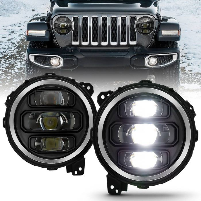 JEEP WRANGLER JL 18-19 FULL LED PROJECTOR H.L BLACK