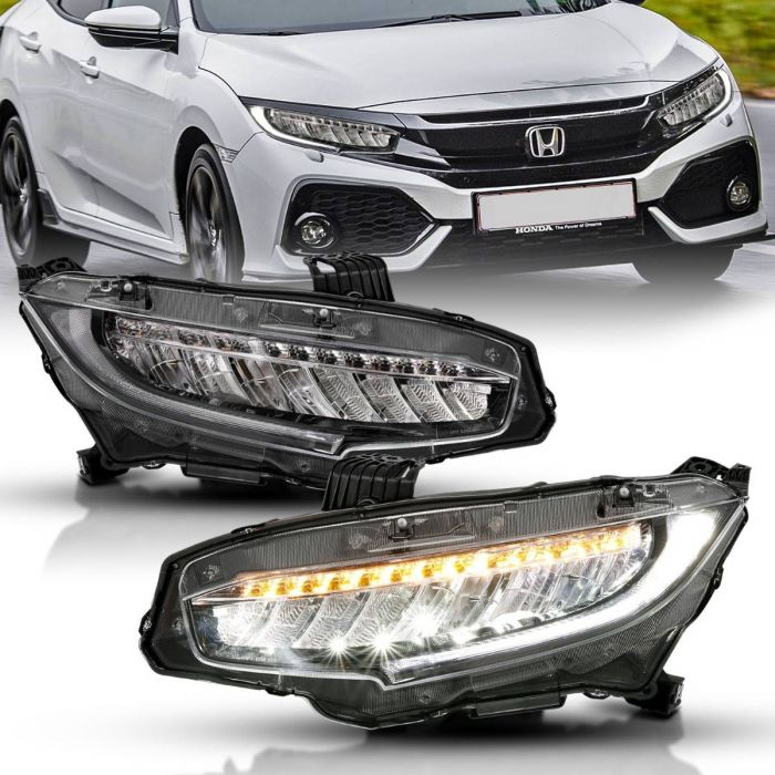HONDA CIVIC 16-17 4DR LED PROJECTOR HEADLIGHT w/ SEQUENTIAL SIGNAL